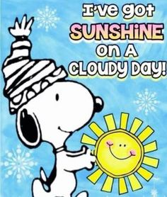 Solve Snoopy sending sunny days ahead jigsaw puzzle online with 90 pieces