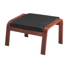 POÄNG Footstool IKEA The frame is made of layer-glued bent beech which is a very strong and durable material.