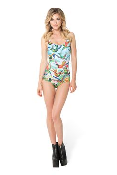Birds In Paradise Swimsuit (WW ONLY $90AUD) by Black Milk Clothing