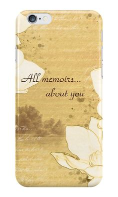 """""""Sketch """"All memoirs... about you"""""""" iPhone Cases & Skins by floraaplus 