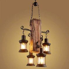 Cabin Chandelier, Rustic Chandelier, Chandelier Lamp, Edison Bulb Chandelier, Bottle Chandelier, Pendant Lights, Cabin Lighting, Rustic Lighting, Farmhouse Lighting