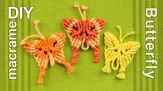How to make a cute Macrame Butterflies. This butterfly can be used as: necklace, pendant, earrings, bracelet, keyring, keychain, bobby pins, hairdo or hair ornament, etc.. #DIY #Macrame #Butterfly #Tutorial