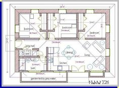 a habitat for humanity, straw bale house plan, 726 sq. ft.