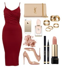 """Untitled #47"" by rodoulla97 on Polyvore featuring Christian Louboutin, Yves Saint Laurent, Apt. 9, Lancôme, FingerPrint Jewellry and Bobbi Brown Cosmetics"