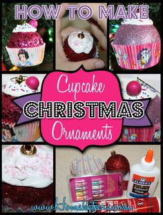 How to Make Cupcake Ornaments, DIY and Crafts, How to Make Cupcake Christmas Ornaments Candy Land Christmas, Christmas Cupcakes, Disney Christmas, Diy Christmas Ornaments, Christmas Holidays, Christmas Decorations, Christmas Ideas, Homemade Ornaments, Merry Christmas