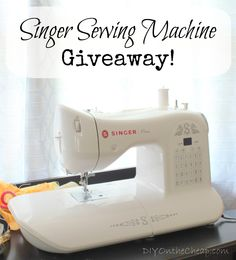 Singer {One} Sewing Machine Giveaway, via DIYOntheCheap.com! I reallly want to win this!!