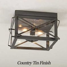 Everything Primitives Double Ceiling Light 12 Beautiful Flush Mount Ceiling Lights