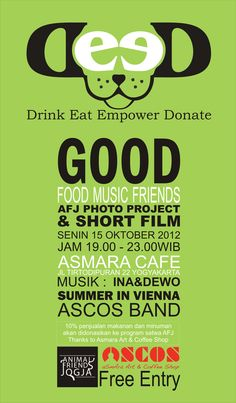 Fyler DEED (drink eat empower donate)