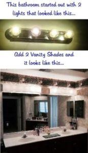 Portfolio Of Vanity Shades Lighting Makeover Bathroom