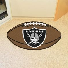 Oakland Raiders Football Floor Rug Mat