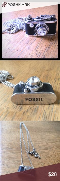 "Fossil camera necklace Fossil camera necklace, approximately 14"" in length including camera charm. Brand new, never worn Fossil Jewelry Necklaces"