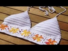 Cómo hacer top bikini de ganchillo. How do crochet bikini top. - YouTube