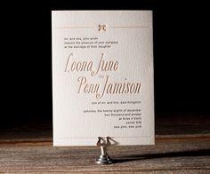 Bella Figura 2013 - Simple Bow Letterpress Wedding Stationery