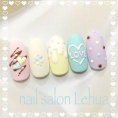 Girls Nail Designs, Creative Nail Designs, Creative Nails, Rose Nail Art, Rose Nails, Stylish Nails, Trendy Nails, Art Deco Nails, Multicolored Nails