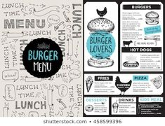 Images, photos et images vectorielles de stock similaires de Restaurant Food Menu Design Chalkboard Background - 196454786 similaires | Shutterstock Lunch Menu, Menu Restaurant, Hot Dogs, Fries, Menu Design, Images, Photos, Chalkboard, Pictures