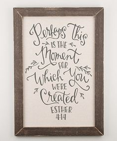 Look what I found on #zulily! Esther 4:14 Cloth Board #zulilyfinds