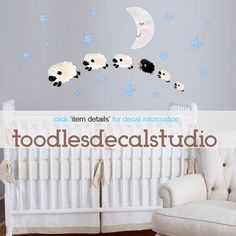 Sheep Wall Decal Reusable Wall Decal by ToodlesDecalStudio on Etsy