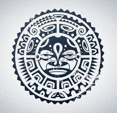 Tattoo in stile polinesiano Archivio Fotografico