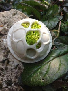 FOREST - GREEN ISLAND  Collana - porcellana, lichene, pvc  Necklace - porcelain - moss - pvc