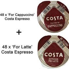 From 96 X Tassimo Costa Espresso Discs For For Cappuccino) - Sold Loose Coffee Cafe, Espresso, Latte, Costa, Gourmet, Kaffee, Espresso Coffee, Espresso Drinks