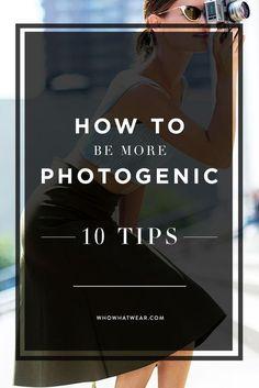 10 astuces pour être photogénique. Wahou, on va tester le truc de la langue derrière les dents! Pssst, les conseils sont consultables en français sur notre blog: http://www.albumphoto.fr/blog/conseils-photogenique/