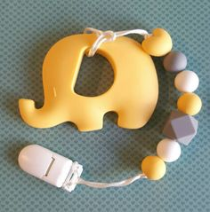 Hey, I found this really awesome Etsy listing at https://www.etsy.com/ca/listing/477110361/yellow-baby-elephant-teether-with-clip