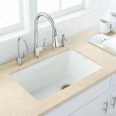 Choosing a New Kitchen Sink White Undermount Kitchen Sink, Drop In Kitchen Sink, Fireclay Sink, Undermount Sink, New Kitchen, Kitchen Decor, Kitchen Sinks, Kitchen Ideas, Bathroom Sinks