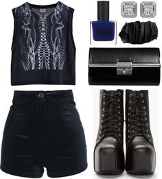 """dark thoughts."" by goldiloxx ❤ liked on Polyvore"