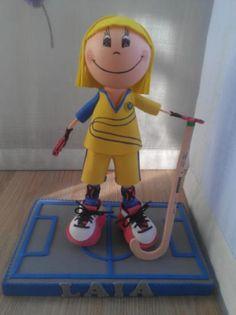 Muñeca fofucha personalizada club de hockey.