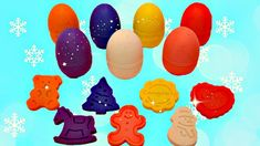 Learn Colors with Eggs Play Doh Christmas Molds Xmas Tree Gingerbread Ma. Learning Colors, Play Doh, Shopkins, Gingerbread Man, Xmas Tree, Snowman, Eggs, Youtube, Christmas