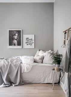 Gravity Home: Serene Grey & White Studio Apartment Gravity Home, Interior, Home Bedroom, Bedroom Interior, Home Decor, Bedroom Inspirations, Apartment Decor, Dorm Room Decor, Apartment Decorating On A Budget