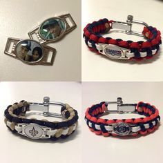 Customizable Paracord Bracelets - Any team, any color, any photo… https://www.etsy.com/listing/250098700/550-type-iii-custom-paracord-shoelace #football #baseball #basketball #hockey #paracordlife #paracord #paracordbracelet #anniversary #wedding #custom #custommade #sport #etsy #550cord #madeintheusa #color #pattern #unique