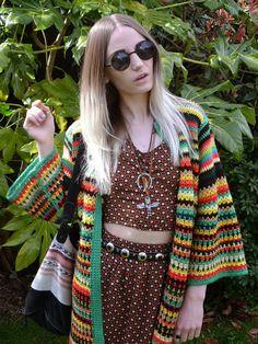 Saco crochet mujer