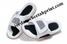 9f6f09ee3648de Cheap Air Jordans 4 Massage Slippers White Black Red