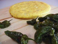 #Tortilla española con #pimientos de #Padrón #recetas @RecetasHuga