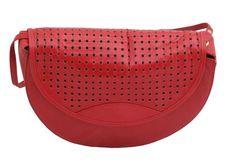 Charles Jourdan 1970's red leather bag