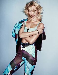 Sporty 80s Editorials - The Photoshoot Starring Hana Jirickova for Vogue Spain is Athletic Chic (GALLERY)