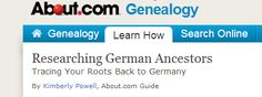 Researching German Immigrants (from about.com)
