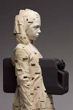 Amazing by The Italian Artist Gerard Demetz creates wooden children carrying objects inspired by war and religion. Just beautiful.