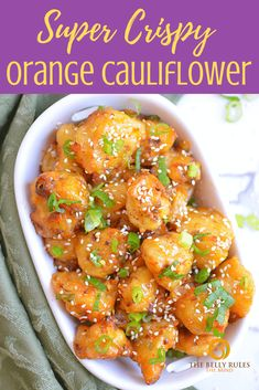 orange cauliflower recipe