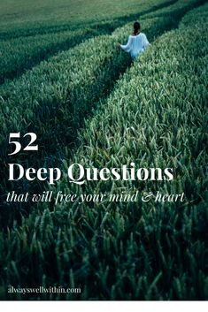 52 self-discovery questions with free printable.