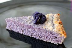 G�teau sucr� � la pomme de terre vitelotte et � la violette