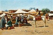 Richard Karlovich Zommer (Russian, 1866–1939) Title: A market scene