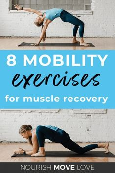 Gently release tight hips, shoulders, and back muscles with these 8 Mobility Exercises for Muscle Recovery! Perfect for athletes looking to recover from a tough workout, or anyone who just needs a gentle muscle release! Ace Fitness, Physical Fitness, Yoga Fitness, Fitness Men, Fitness Logo, Fitness Nutrition, Fitness Fashion, Back Exercises, Yoga Exercises