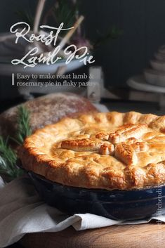 A taste of home, this roast lamb and rosemary pie is made from leftover roast lamb and gravy encased in my grandmother's crispy, flaky perfect pastry. Lamb Pie Recipes, Lamb Casserole Recipes, Tofu Recipes, Savoury Recipes, Pastry Recipes, Yummy Recipes, Cooking Recipes, Yummy Food, Lamb Dishes