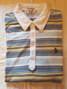 ec64cb44a6c0 Penguin Heritage Slim Fit top size M mens teen Munsing Wear multi stripe  white
