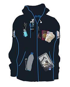 AyeGear® H12 MultiPocket Zip Up Hoodie (12 Pockets) Fleece Jacket