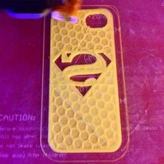 Trial print. #3DPRINT #3dprinting #phonecase #superman #honeycombs by the3dginger