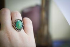 A personal favorite from my Etsy shop https://www.etsy.com/listing/398460079/size-8-12-turquoise-silver-ring