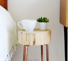 Image result for bedside table copper legs